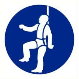 Pictogram veiligheidsharnas verplicht- Sticker