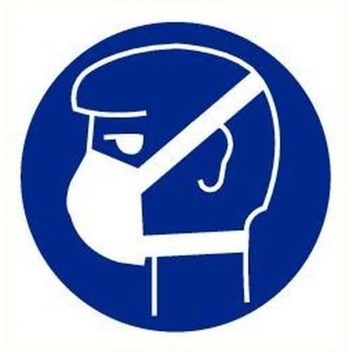 Pictogram stofmasker verplicht- Sticker