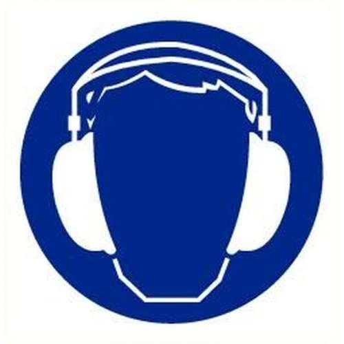 Pictogram gehoorbescherming verplicht- Sticker