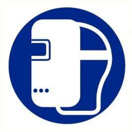 Pictogram lashelm verplicht- Sticker