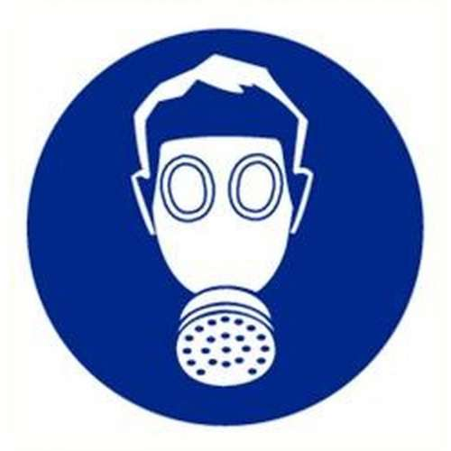 Pictogram adembescherming- Sticker