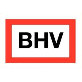 Pictogram BHV- Sticker en bord