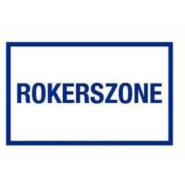 Rokerszone- Sticker 40 x 25 cm.