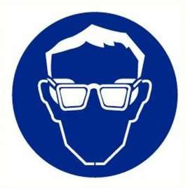 Pictogram oogbescherming verplicht- Sticker
