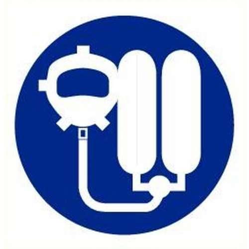 Pictogram ademhalingsapparaat verplicht- Sticker