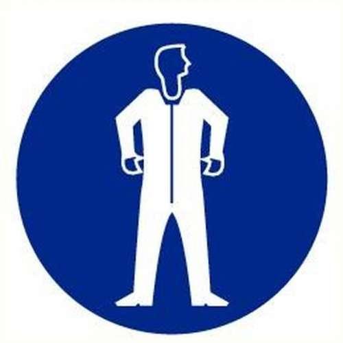 Pictogram beschermkledij verplicht- Sticker