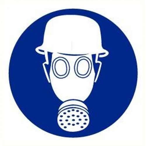 Pictogram helm en masker verplicht- Bord