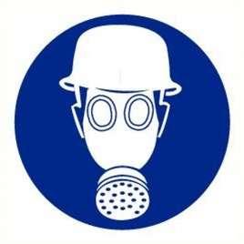 Helm en masker verplicht- Bord pp 20 cm