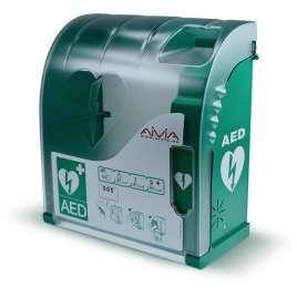 AIVIA 200 AED Buitenkast met verwarming- Kast open toegang
