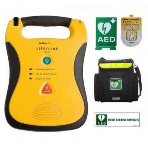 AED- Defibtech Lifeline- Inclusief tas en wandbeugel