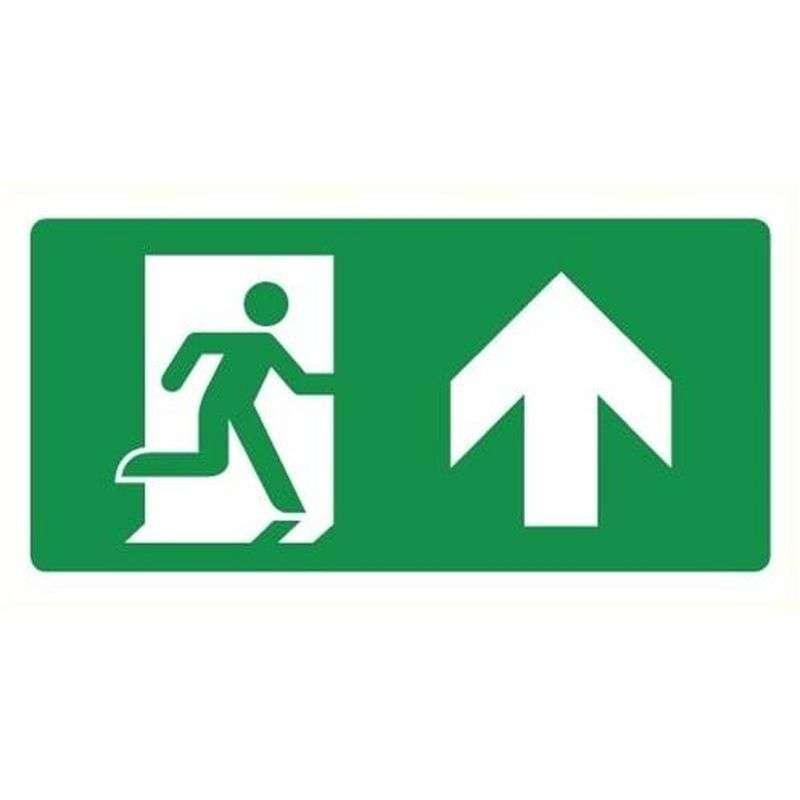 Uitgang omhoog/rechtdoor