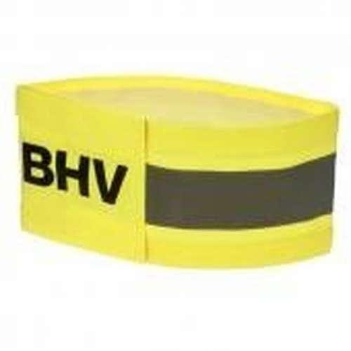 Armband geel- Met opdruk reflecterend