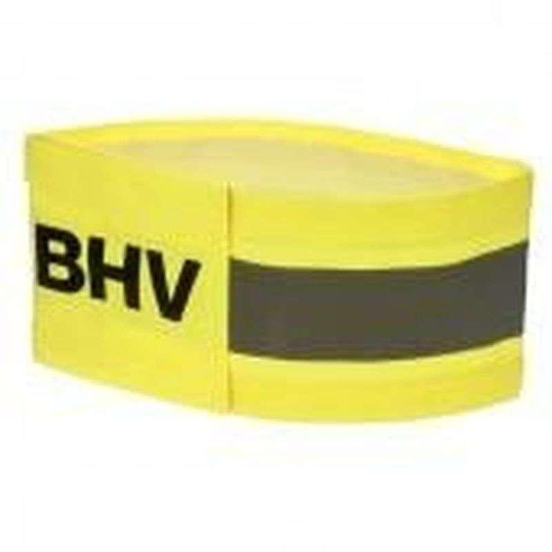 Armband geel met opdruk reflecterend