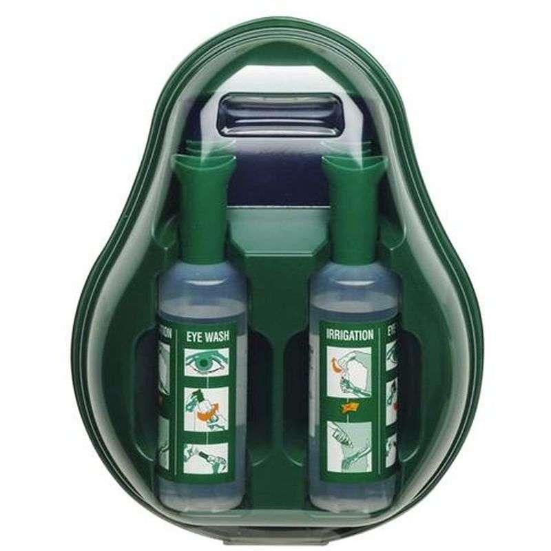 Oogspoelstation met 2 fles 500 ml steriele zoutoplossing