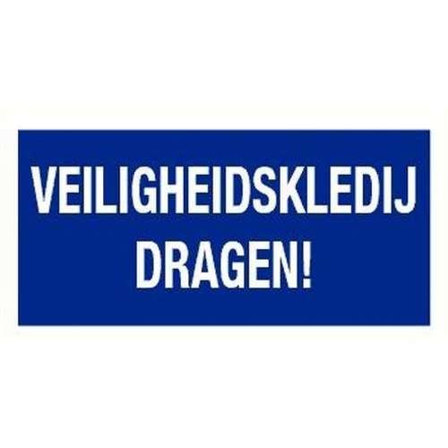 Pictogram veiligheidskledij dragen- Sticker
