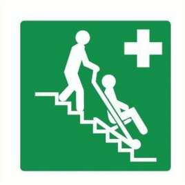 PICTOGRAM EVACUATIESTOEL-STICKER
