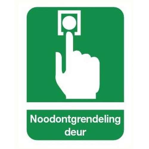 Pictogram noodontgrendeling deur- Sticker