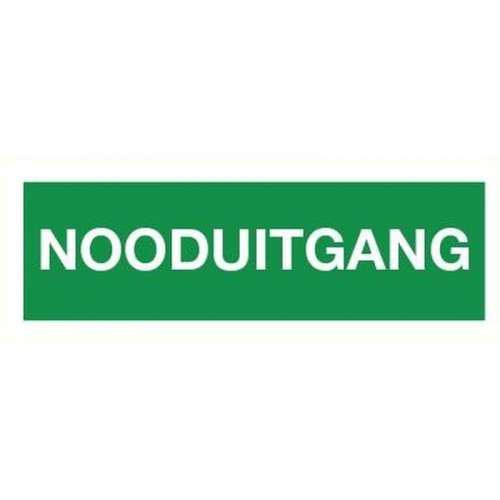 Pictogram nooduitgang- Sticker