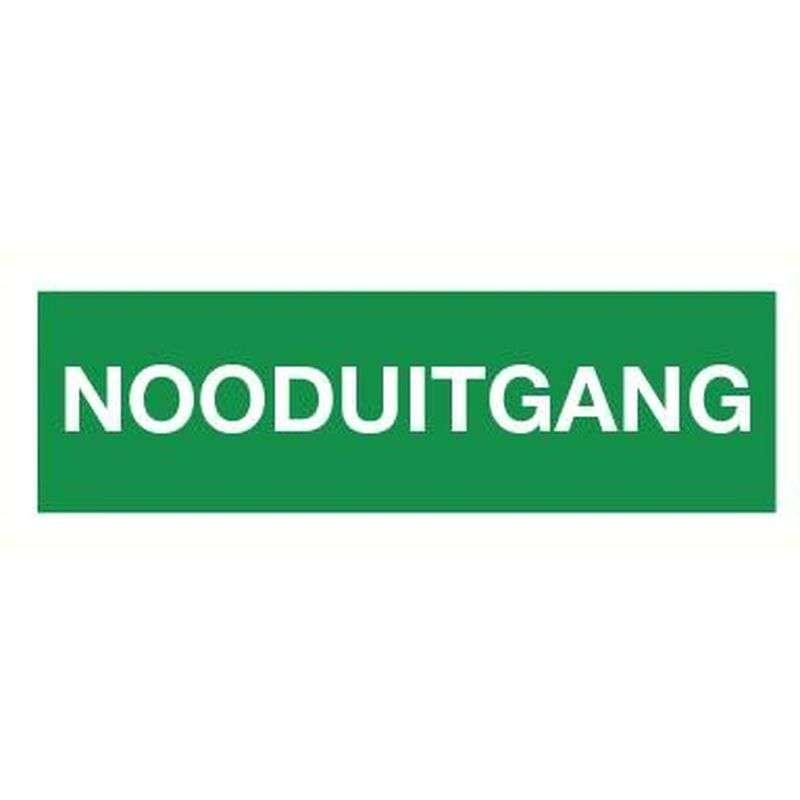 PICTOGRAM NOODUITGANG-STICKER