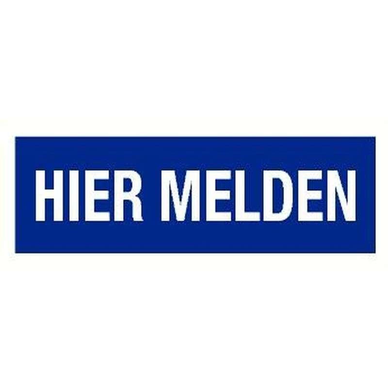 PICTOGRAM HIER MELDEN-STICKER