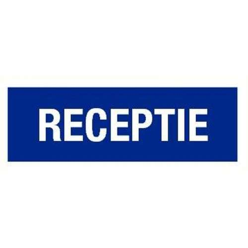 Pictogram receptie- Sticker