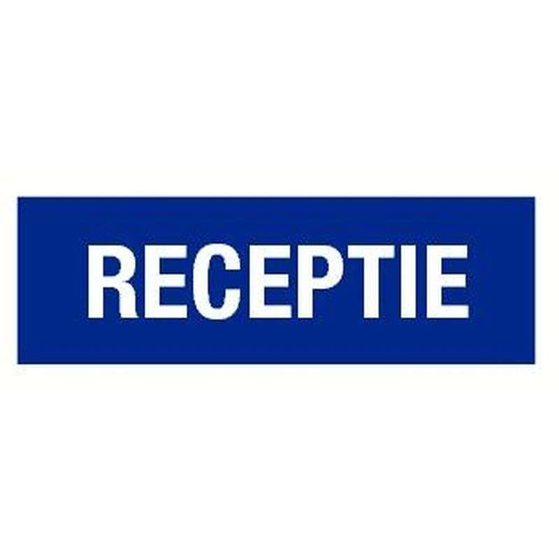 PICTOGRAM RECEPTIE-STICKER