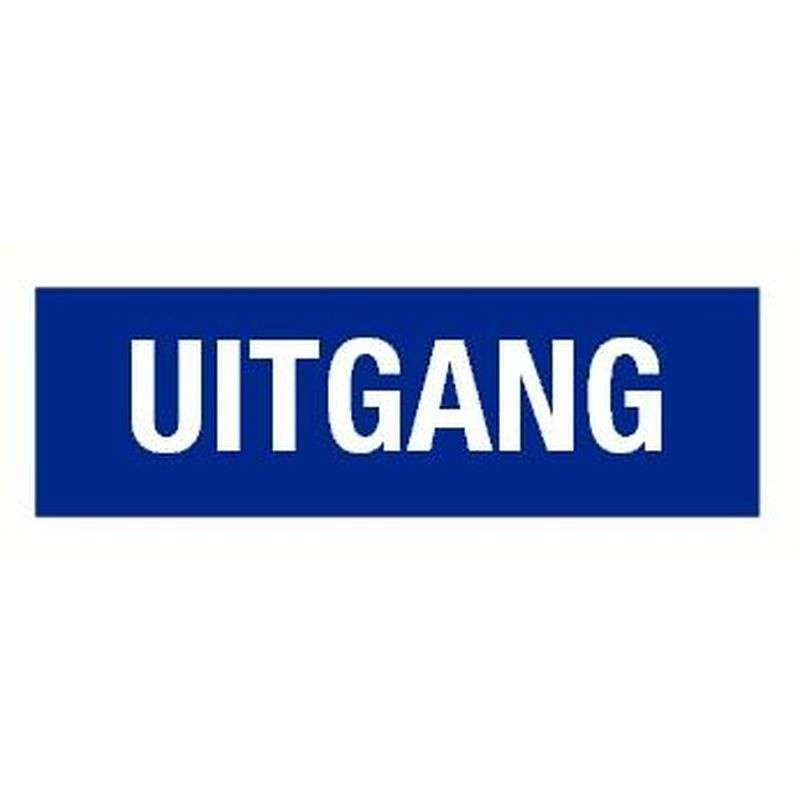 PICTOGRAM UITGANG-STICKER