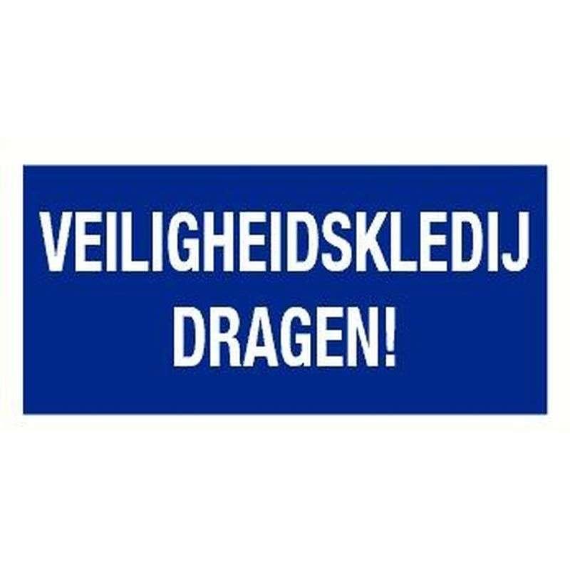 PICTOGRAM VEILIGHEIDSKLEDIJ DRAGEN-BORD