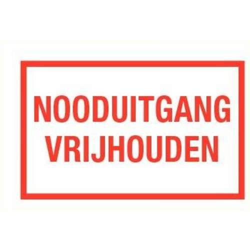 Pictogram nooduitgang vrijhouden- Sticker
