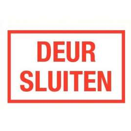 PICTOGRAM DEUR SLUITEN-STICKER