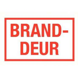 Pictogram branddeur- Sticker