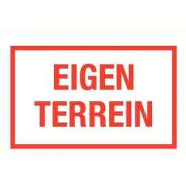PICTOGRAM EIGEN TERREIN-BORD