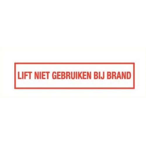 Pictogram lift niet gebruiken bij brand- Sticker