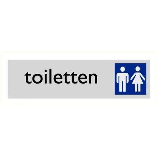 Pictogram toiletten- Aluminium look