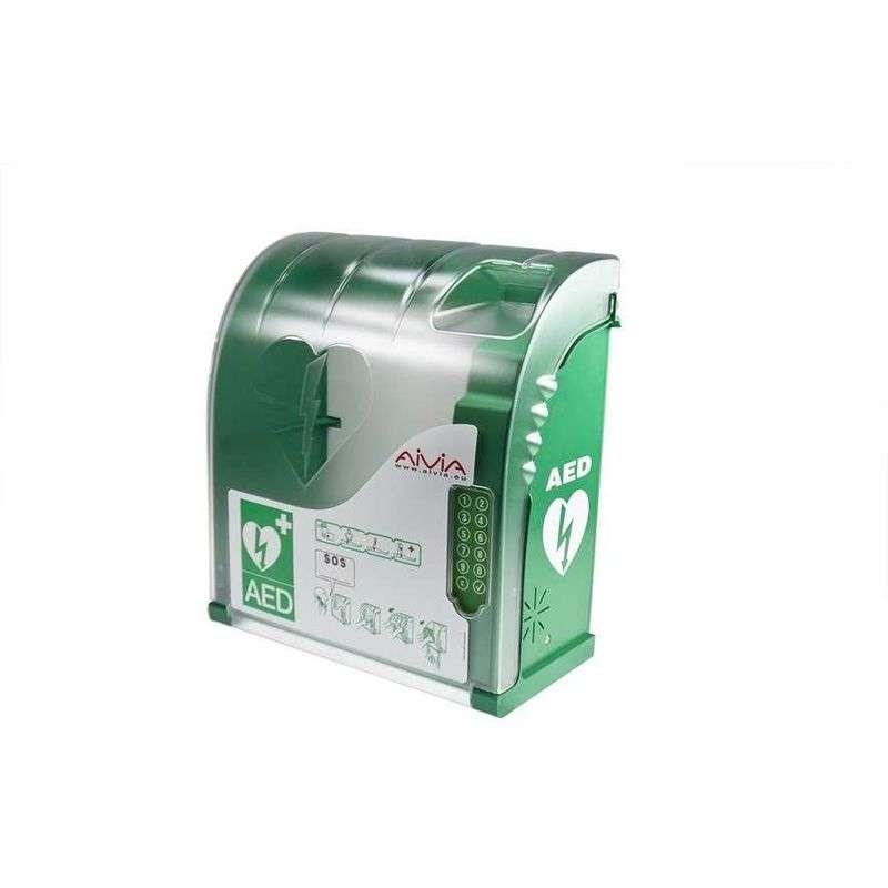 AIVIA 210 AED Buitenkast met verwarming- Met pincodeslot