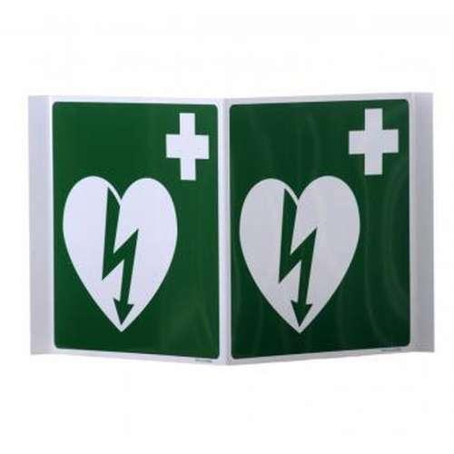 Pictogram met AED- Panoramisch bord