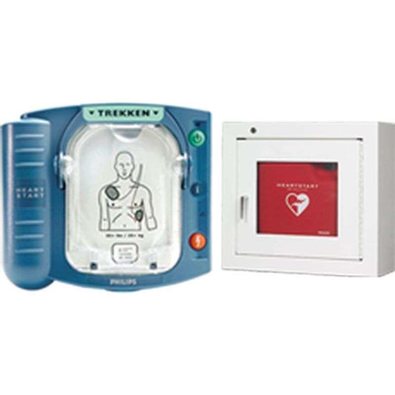 Philips Heartstart HS 1 AED + Witte binnenkast- Aanbieding!