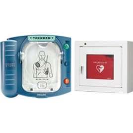 AED-Philips Heartstart HS 1- Met witte binnenkast
