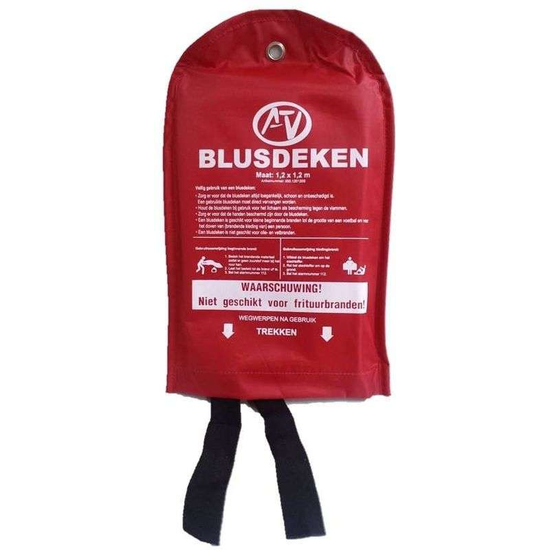Blusdeken softbag 120 x 120 cm in nylon wandhouder