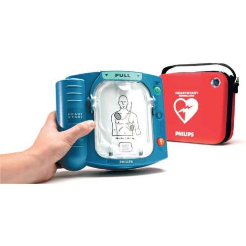 AED-Philips Heartstart HS 1- Met tas en muurbeugel