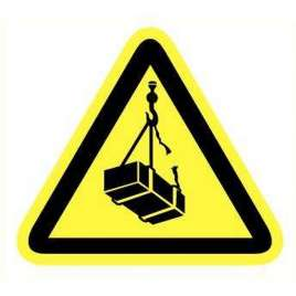 Pictogram - Hangende lasten- Sticker