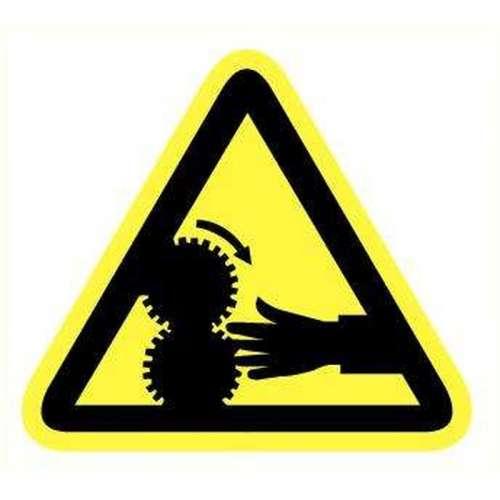 Pictogram - Gevaar voor handen- Sticker