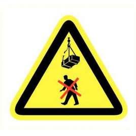 Pictogram - Niet onder last lopen- Sticker