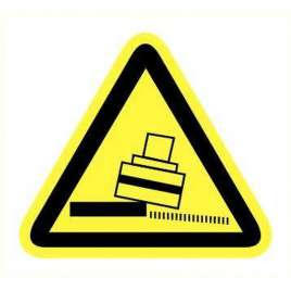 Pictogram - Kantelgevaar- Sticker