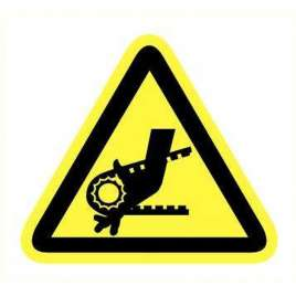 Pictogram - Draaiende delen- Sticker