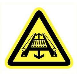 Pictogram - Bewegende installatie- Sticker