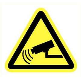 Pictogram Beveiliging met camera's- Sticker