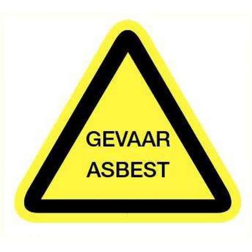 Pictogram Gevaar asbest- Sticker