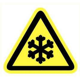 Pictogram Lage temperatuur of bevriezing- Sticker